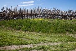 Kan muren runt Troja i slaget om Troja i Homeros Iliaden ha haft en pallisad?