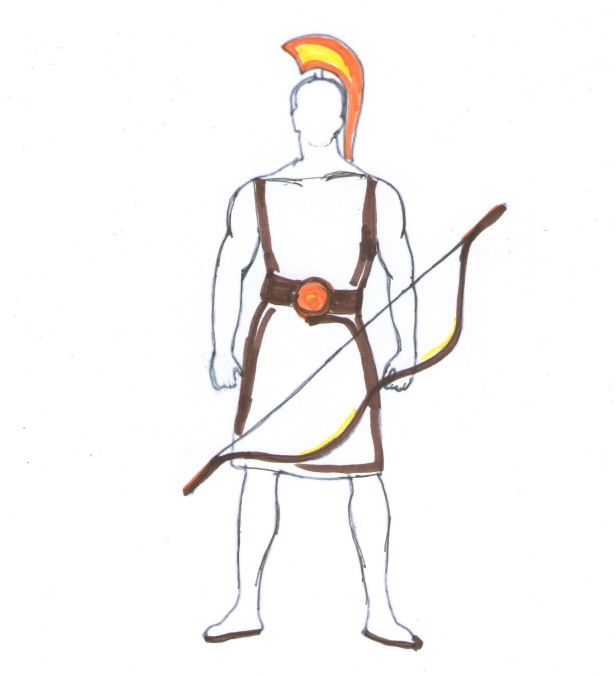 Heracles or Hercules with his bow. Twelve labors of Hercules a psychopath who committed rape and murder