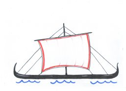 were the ships to the battle of troy similar to viking ships? What says homer in the iliad?
